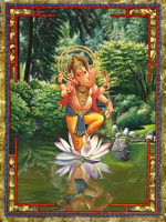 Lord Ganesha dancing